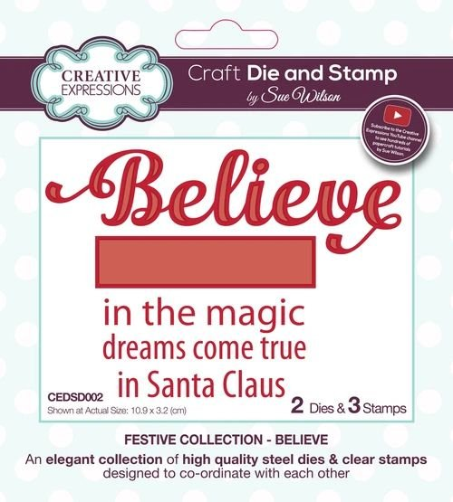 Festive Believe Stamps & Die Set