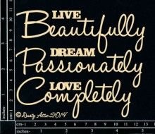 Live Beautifully Chipboard