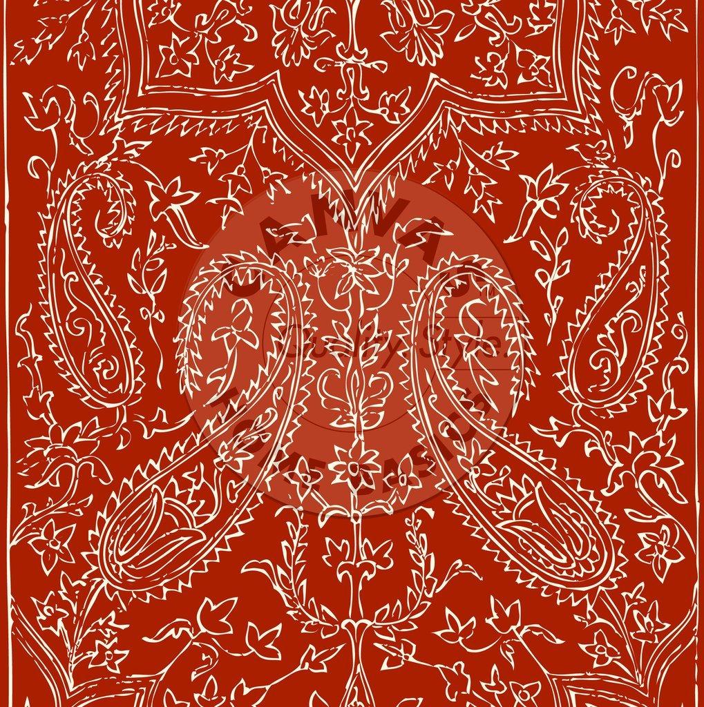 Rust & Ivory Bandana Reverse Paper