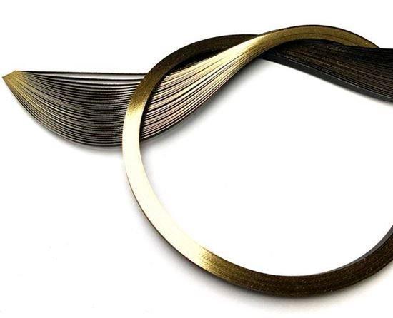 Gilded Quilling Paper 1/8 30/Pkg Gold Edge on Black