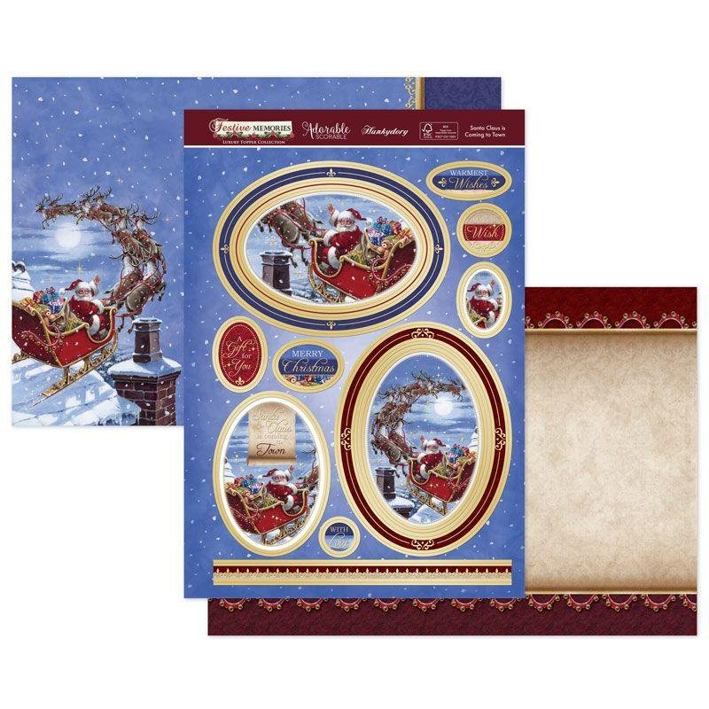 Luxury Topper Set Santa Claus Is Coming To Town