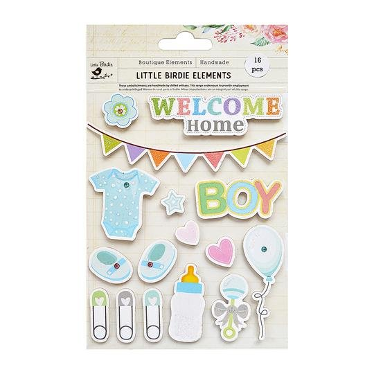 Welcome Home Baby Boy Stickers
