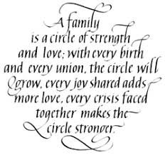 A Family Is A Circle Of Strength Stamp