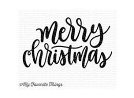 Merry Christmas Greeting Stamp