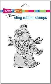 Snowman Scarf Stamp