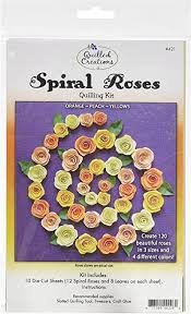 Quilling Kit Spiral Roses Orange Peach Yellow