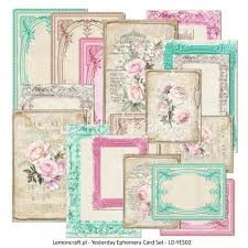 Yesterday Ephemera Cards