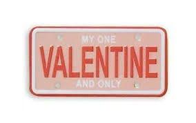 Mini License Plates Valentine