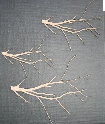 Bare Branches Chipboard