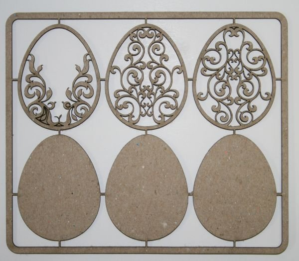 Easter Eggs With Backing Chipboard