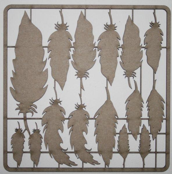 Feather Assortment Chipboard