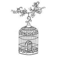 Antique Birdcage Stamp