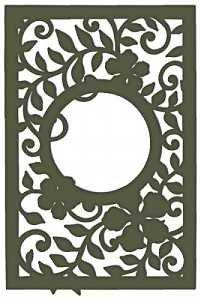 Decorative Leafy Frame Die