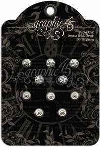Ornate Metal Brads Shabby Chic