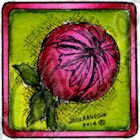 Dahlia Bud In Small Square Stamp