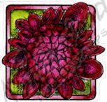 Dahlia Opening Bud In Small Square Stamp