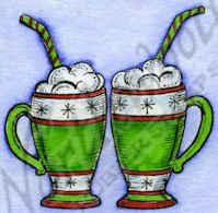 Hot Cocoa Mugs Stamp
