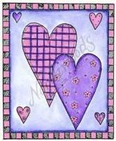 Hearts In Checkerboard