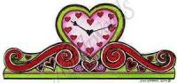 Heart Mantle Clock Stamp
