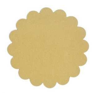 Wood Shape Round Scallop 10