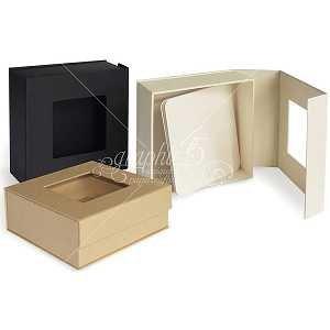 Mixed Media Box Magnet Closure Kraft