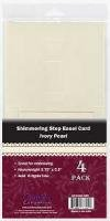 Shimmering Step Easel Card Ivory Pearl