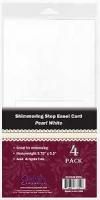 Shimmering Step Easel Card Pearl White