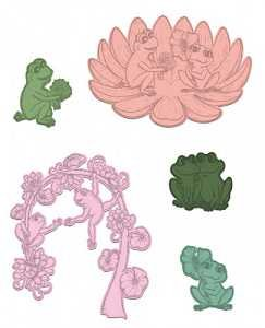 Flirting Frogs Die Set
