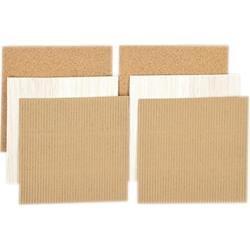 Cord, Corrugated, Balsa Wood Pack 6x6