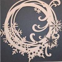 Snowflake Wreath Large Chipboard