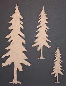 Cedar Trees Chipboard