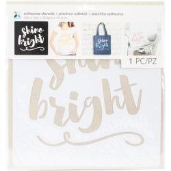 Adhesive Stencils Shine Bright