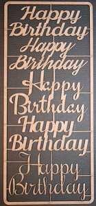 Birthday Greetings Chipboard Set