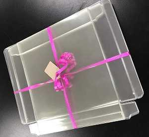 Clear Card Box 6-3/8 x 6-1/4