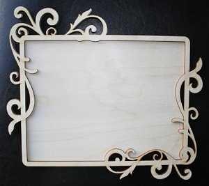 Wood Leafy Frame Large