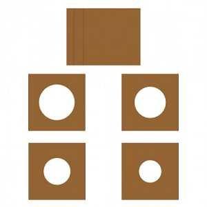 Layered Circles Card 6x6 Kraft