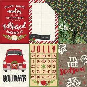 Very Merry 4X6 Vertical Elements Paper