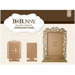 Chipboard Frame Square Ornate