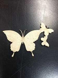 Butterfly Trio Chipboard