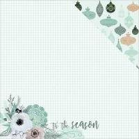 Mint Wishes Flannelette Paper