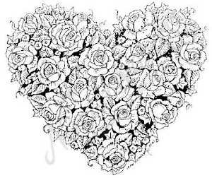 Heart Of Roses Stamp
