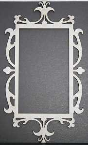 Ornate Rectangle Frame Chipboard