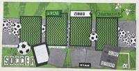 Scrapbook Kit - Soccer, Play With Attitude