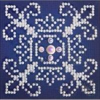 Diamond Dotz White On Blue