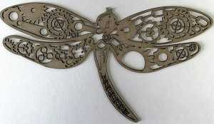 Steampunk Dragonfly Small Chipboard