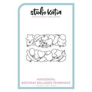 Horizontal Birthday Balloons Trimmings Stamp Set