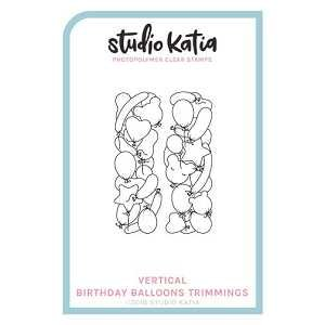 Vertical Birthday Balloons Trimmings Stamp Set