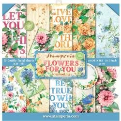 Flowers For You Paper Pad 8 X 8
