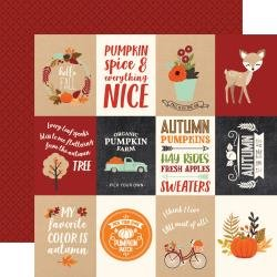 My Favorite Fall 3X4 Journaling Cards Paper