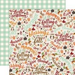 My Favorite Fall Hello Autumn Paper